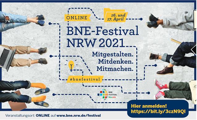 BNE-Festival 2021 Wir sind dabei: Freitag, 16.4. und Samstag 17.4.