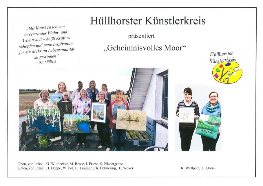 "Hüllhorster Künstlerkreis präsentiert ""Geheimnisvolles Moor"" ab Sonntag, den 20.6., im Moorhus"